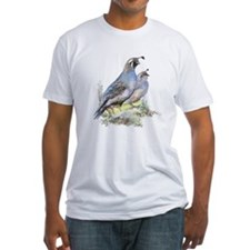 Watercolor California Quail Bird Shirt