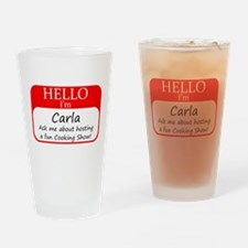 Cookign Show Name Tag - Carla Drinking Glass