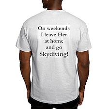 Skydiving Fear Ash Grey T-Shirt