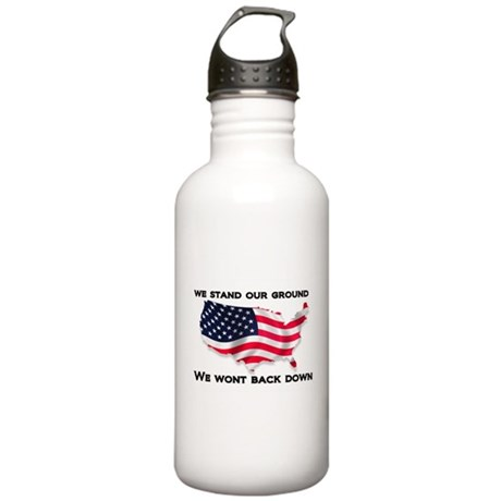 We stand our ground we wont back down Water Bottle