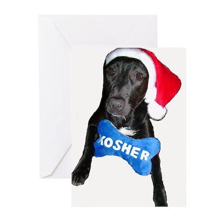 Kosher Santa Dog Christmukkah Cards 6 in pack