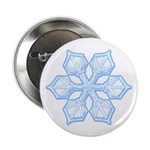 "Flurry Snowflake XIX 2.25"" Button (10 pack)"