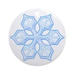 Flurry Snowflake XIX Ornament (Round)