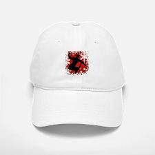 Snowboarding (Red) Baseball Baseball Cap