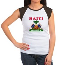 Haiti Coat Of Arms Designs Women's Cap Sleeve T-Sh