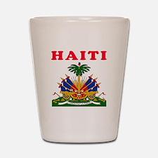 Haiti Coat Of Arms Designs Shot Glass