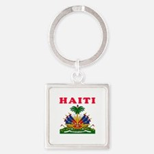Haiti Coat Of Arms Designs Square Keychain
