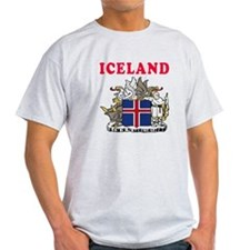 Iceland Coat Of Arms Designs T-Shirt