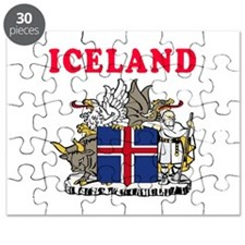 Iceland Coat Of Arms Designs Puzzle