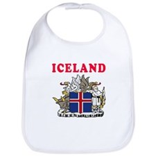 Iceland Coat Of Arms Designs Bib