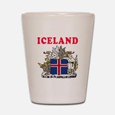 Iceland Coat Of Arms Designs Shot Glass