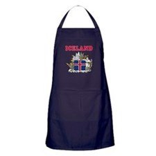 Iceland Coat Of Arms Designs Apron (dark)