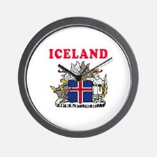 Iceland Coat Of Arms Designs Wall Clock