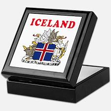 Iceland Coat Of Arms Designs Keepsake Box