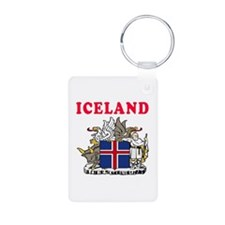 Iceland Coat Of Arms Designs Keychains