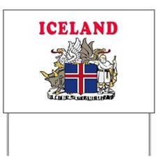 Iceland Coat Of Arms Designs Yard Sign