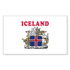 Iceland Coat Of Arms Designs Decal