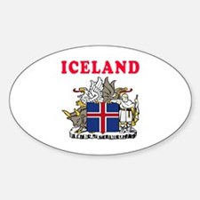 Iceland Coat Of Arms Designs Sticker (Oval)