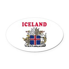 Iceland Coat Of Arms Designs Oval Car Magnet