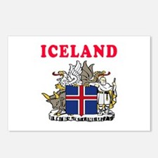 Iceland Coat Of Arms Designs Postcards (Package of