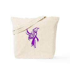 survivor in purple Tote Bag