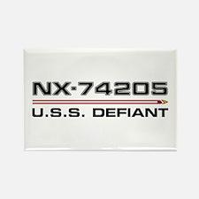 USS Defiant DS9 Dark Rectangle Magnet