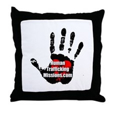 Human Trafficking Missions Small Logo Throw Pillow