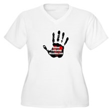Human Trafficking Missions Small Logo Plus Size T-