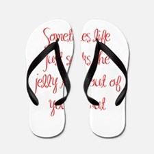 sometimes-life-just-sucks-ma-red Flip Flops