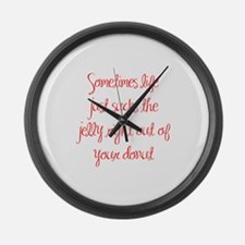 sometimes-life-just-sucks-ma-red Large Wall Clock