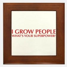 I-grow-people-opt-red Framed Tile