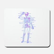 Red Blue Skeleton Body Diagram Mousepad
