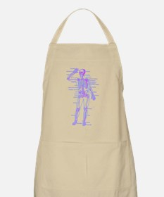 Red Blue Skeleton Body Diagram Apron