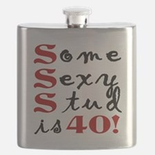 Some Sexy Stud Is 40 Flask