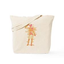 Red Yellow Skeleton Body Diagram Tote Bag