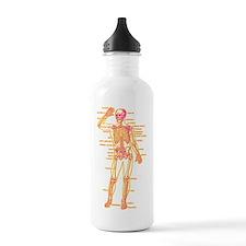 Red Yellow Skeleton Body Diagram Water Bottle