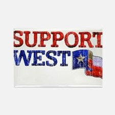 Support West Rectangle Magnet