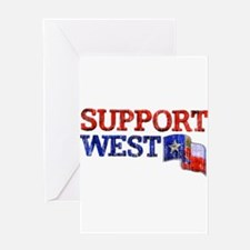 Support West Greeting Card