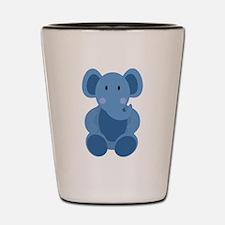 Blue Elephant Shot Glass