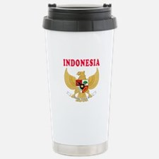 Indonesia Coat Of Arms Designs Travel Mug