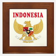 Indonesia Coat Of Arms Designs Framed Tile