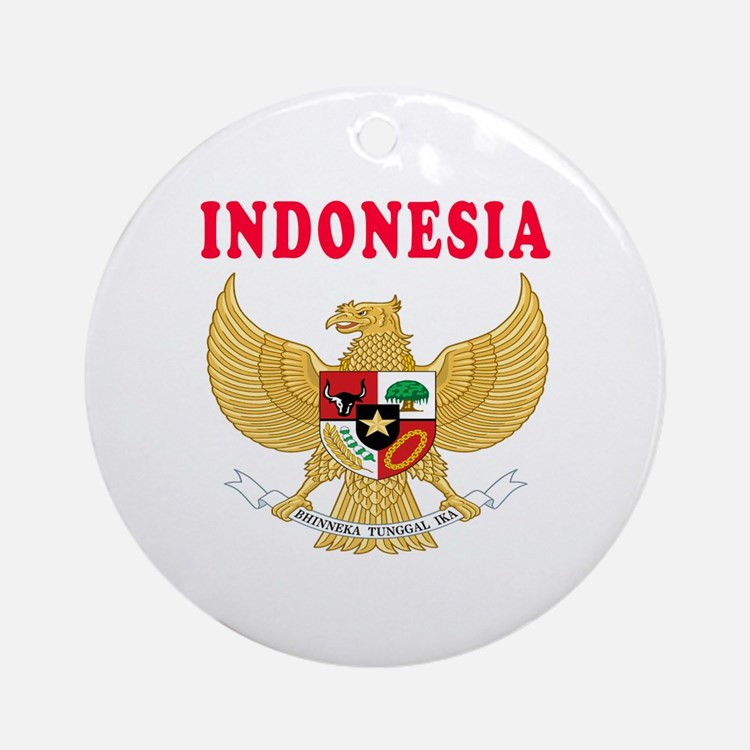 Indonesia Coat Of Arms Designs Ornament (Round)