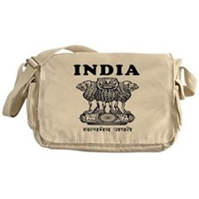 India Coat Of Arms Designs Messenger Bag