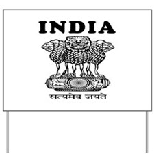 India Coat Of Arms Designs Yard Sign