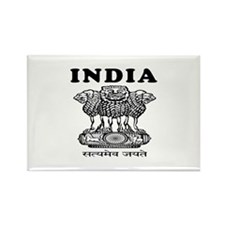 India Coat Of Arms Designs Rectangle Magnet