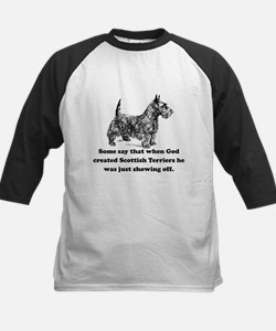 When God Created Scottish Terriers Baseball Jersey