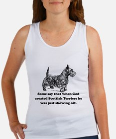 When God Created Scottish Terriers Tank Top