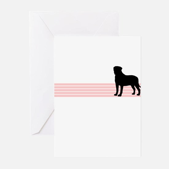 Retro Bullmastiff Greeting Cards (Pk of 10)