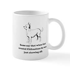 When God Created Chihuahuas Small Mug