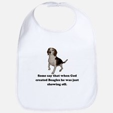 When God Created Beagles Bib